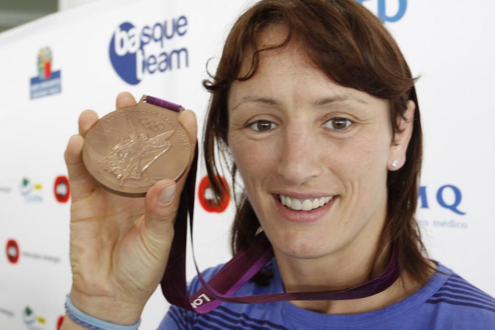 Maider-Unda-con-la-medalla-de-bronceen-los-JJOO-Londres-2012