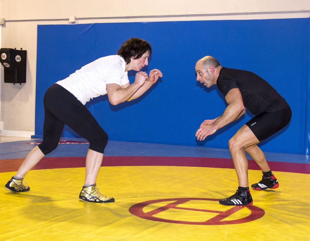 Maider-Unda-entrenando-con-su-preparador-Luis-Crespo
