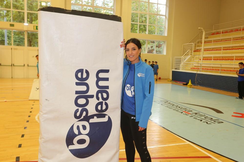 Eli Pinedo jugadora del equipo de balomano femenino del Bera Bera