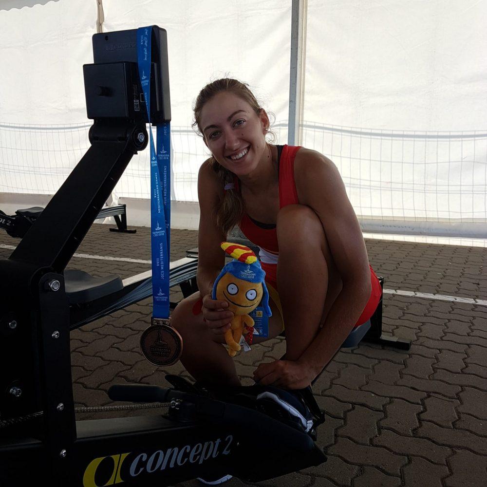 Virginia Diaz bronce en Juegos del Mediterraneo